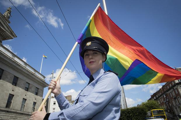 Rainbow nation: Garda Elaine Byrne at the launch of this year's Dublin LGBTQ+ Pride Festival and Parade. PHOTO: ARTHUR CARRON