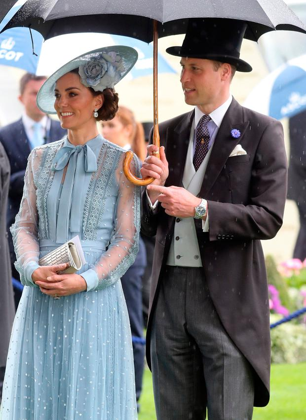 Prince William, Duke of Cambridge and Catherine, Duchess of Cambridge on day one of Royal Ascot at Ascot Racecourse on June 18, 2019 in Ascot, England. (Photo by Chris Jackson/Getty Images)