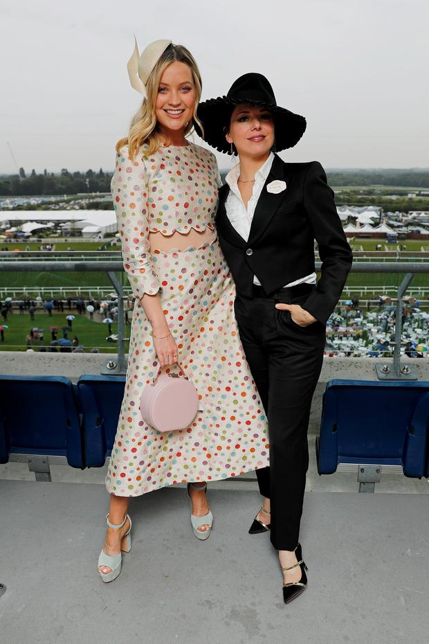 Laura Whitmore and Imelda May attends day 1 of Royal Ascot at Ascot Racecourse on June 18, 2019 in Ascot, England. (Photo by David M. Benett/Dave Benett/Getty Images for Ascot Racecourse)