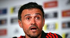 Luis Enrique has stepped down from his role as head coach of the Spanish national team. Photo: Nick Potts/PA Wire.