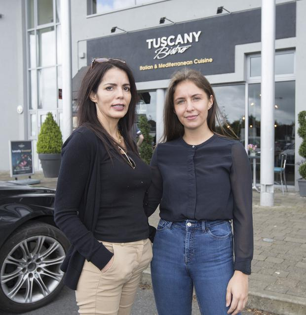 All change: Sabrina Amodeo and her daughter Maxine, the owners of the Tuscany Bistro, in Castletroy, Limerick. Photo: Liam Burke/Press 22