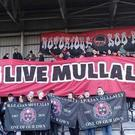 Bohemians fans pay tribute to their fellow supporter Cian Mullally. Picture courtesy of www.bohemianfc.com