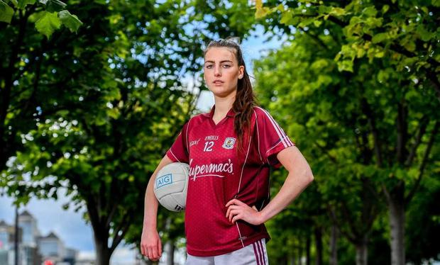 Áine McDonagh of Galway at the announcement of AIG's exclusive insurance offers to LGFA members. Photo: Sam Barnes/Sportsfile
