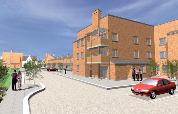 The future: An artist's impression of the project at St Michael's Estate in Inchicore