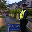 20/6/2019, A Garda at the scene of a shooting at Termon Abbey in Drogheda. Picture credit; Damien Eagers / INM