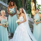 Caroline Wozniacki with her bridesmaids at her wedding. Picture: Vogue Weddings