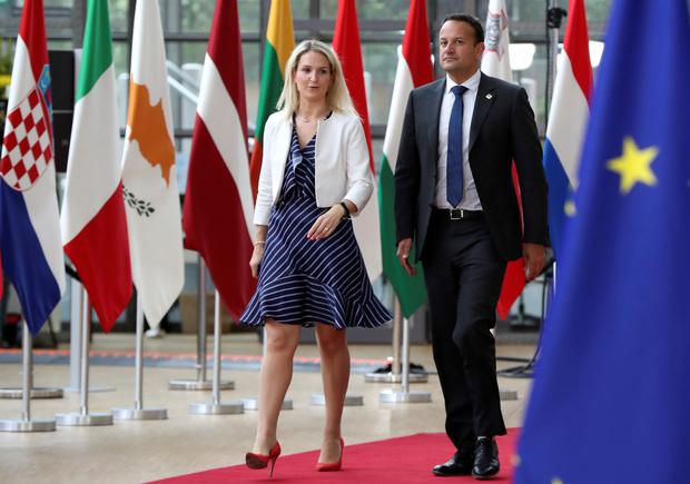 Taoiseach Leo Varadkar and Helen McEntee, Minister for European Affairs, arrive for the European Union leaders summit in Brussels REUTERS/Yves Herman