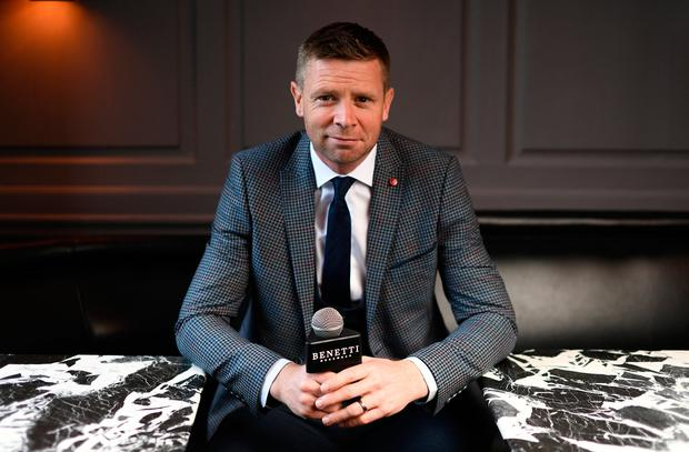 Former GAA star Tomas O'Se of Kerry was in Dublin for the reveal and official launch of the Benetti Menswear GAA Ambassador campaign for 2019