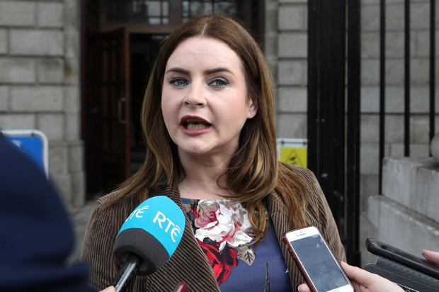 Lisa Marie Murphy, mother of Finn Phillips from Lusk, Co. Dublin pictured speaking to the media on leaving the Four Courts yesterday(Fri) after a High Court action.Pic: Collins Courts