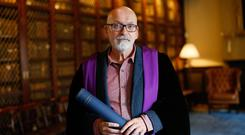 Roddy Doyle was receiving Honorary Fellowship of the Royal College of Physicians of Ireland Photo Kenneth O Halloran