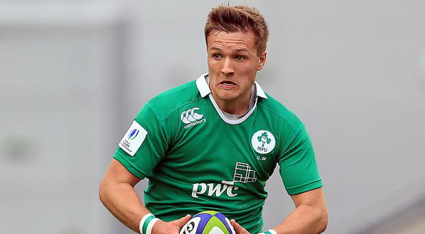 Johnny McPhillips of Ireland during the World Rugby U20 Championship match at The Academy Stadium on June 15, 2016 in Manchester, England. (Photo by Clint Hughes/Getty Images)