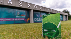 A general view of the report during the Launch of Governance Review Group report at the Football Association of Ireland, National Sports Campus in Abbotstown, Dublin. Photo by Sam Barnes/Sportsfile