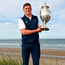 James Sugrue with the trophy following the final day of the R&A Amateur Championship at Portmarnock Golf Club in Dublin. Photo: Sam Barnes/Sportsfile