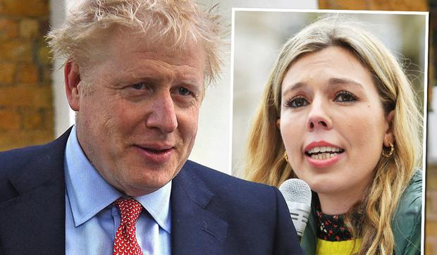 SPOILT: Boris Johnson and Carrie Symonds noisy rowing saw police called to their home