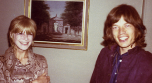Afternoon tea: Visitors included Mick Jagger and Marianne Faithfull