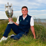 James Sugrue of Mallow Golf Club, Co. Cork, with the trophy