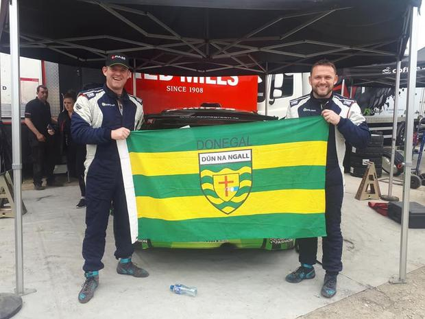 Manus Kelly with co-driver Donall Barrett