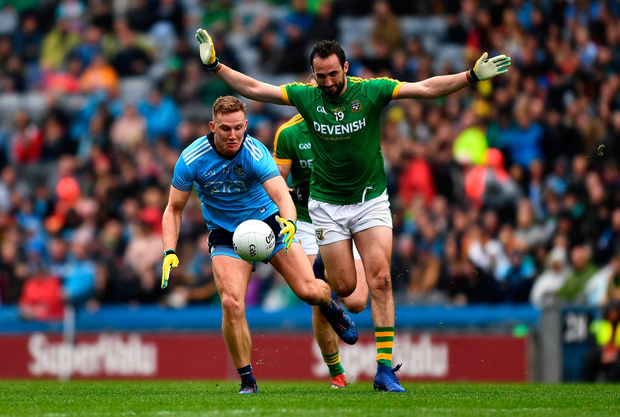 Ciaran Kilkenny of Dublin in action against Graham Reilly of Meath. Photo by Ray McManus/Sportsfile