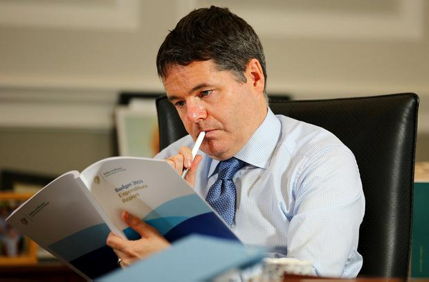 Surprise: Finance Minister Paschal Donohoe has ruled out a second budget regardless of what happens with Brexit. Photo: Gerry Mooney