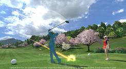 Everybody's Golf VR: Annoying caddie also pictured