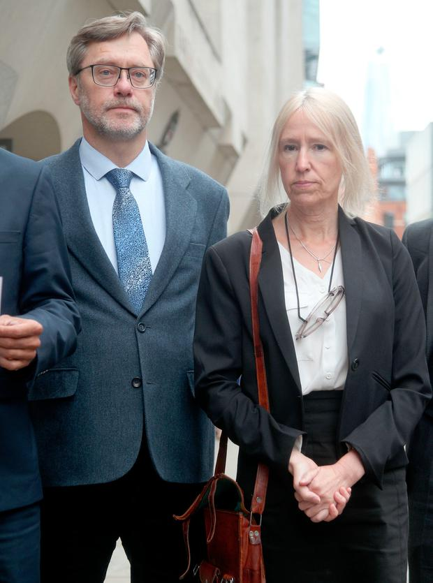 John Letts and Sally Lane, the parents of Jihadi Jack, speaking outside the Old Bailey in London. Photo credit: Yui Mok/PA Wire