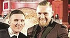 Jonathan Murray pictured with McGregor