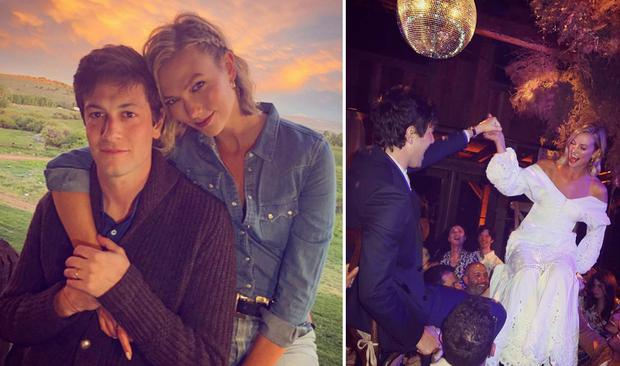Karlie Kloss and husband Joshua Kushner celebrated their wedding party in Wyoming