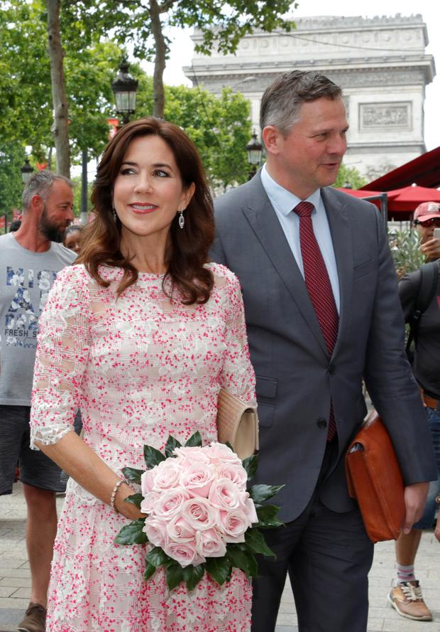 Danish Crown Princess Mary arrives at the House of Denmark in Paris, June 23, 2019. REUTERS/Philippe Wojazer