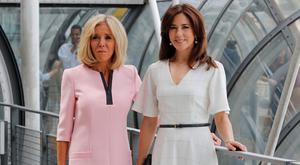 Brigitte Macron, the wife of French President Emmanuel Macron, and Danish Crown Princess Mary visit the Centre Georges Pompidou modern art museum in Paris, France, June 24, 2019. REUTERS/Philippe Wojazer