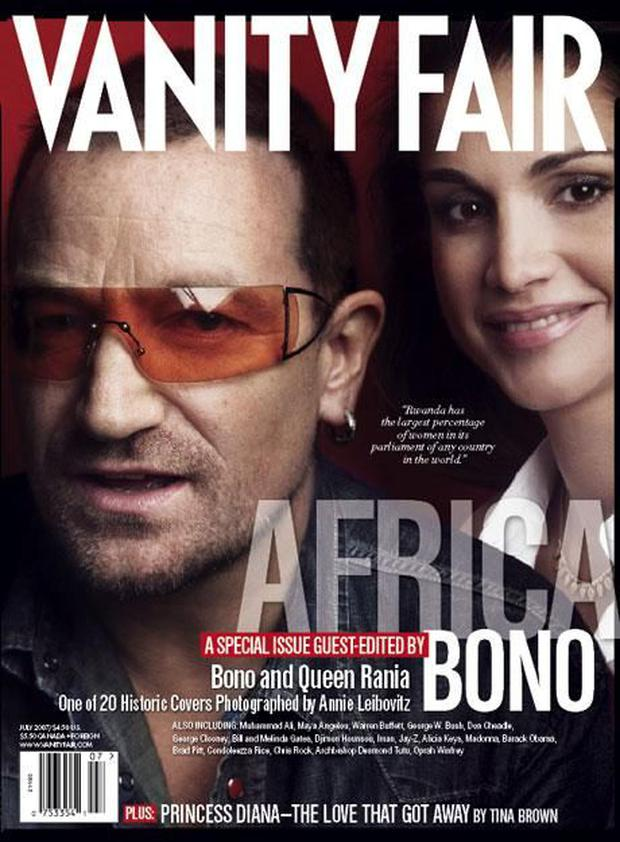 Bono guest edited Vanity Fair's Africa edition in 2008