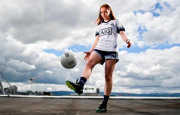 Dublin's Ciara Trant is pictured at AIG's exclusive insurance offers to LGFA members. Photo: Sam Barnes/Sportsfile