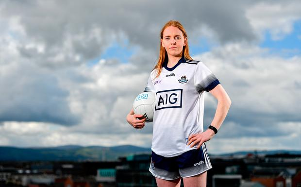 SAFE HANDS: Dublin's Ciara Trant is looking forward to the Leinster SFC Final against Westmeath on Sunday. Photo: Sam Barnes/Sportsfile