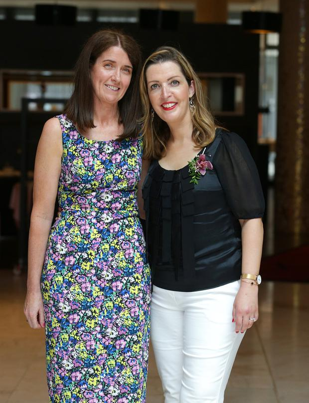Courage: Martina Cox and Vicky Phelan (right) who was on the judging panel