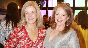 Marietta Doran and guest at the social launch of this year's Longines FEI Jumping Nations Cup of Ireland at the Stena Line Dublin Horse Show, at Bewley's Grafton Street. Picture: Leon Farrell/Photocall Ireland