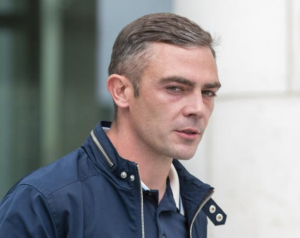 Derek Heavey (32), of Walkinstown, Dublin 12, leaving court after the case. PIC: Collins Courts