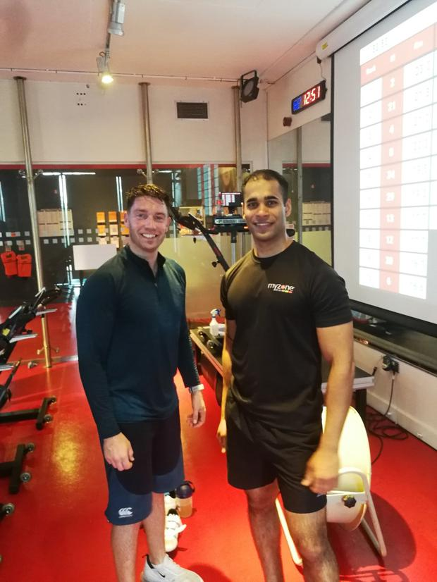 Ian with trainer Prabhat Singh at Westpark Fitness