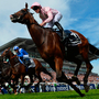 Anthony Van Dyck (far right) edges out Madhmoon (second from right) at Epsom – the latter's connections are hoping to reverse the placings on Saturday. Photo: Getty Images