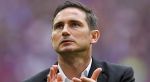 Frank Lampard in his role as Derby County boss