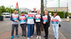 Staff picket at St Vincent Hospital in Dublin