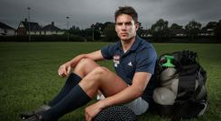 Joey Carbery Unveils New Blueberry Flavour For Year Two Of Avonmore Protein Milk's 'You've Got This Campaign' 26/6/2019 INPHO/James Crombie