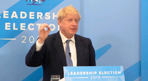 Handout screengrab from the Conservative Party's Facebook page of Conservative party leadership contender Boris Johnson speaking during a live digital hustings as he faces questions from the public, hosted on the Conservative Party's Facebook page.Conservatives/Facebook/PA Wire