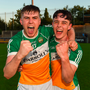 John Murphy, left, celebrates with team-mate Brian Duignan. Photo: Sportsfile
