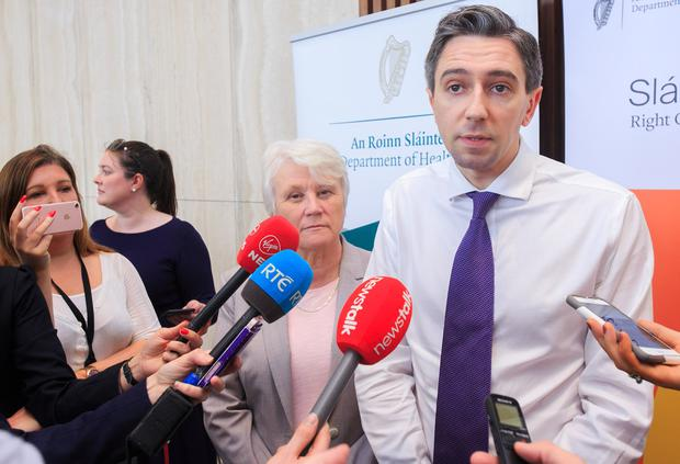 Controlled drugs: Simon Harris signed legislation yesterday that will make it easier for doctors to prescribe medicinal cannabis products to their patients. Photo: Gareth Chaney/Collins