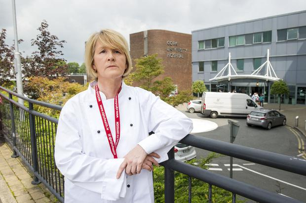 Very skilled workers: Abina Forde is one of the chefs at Cork University Hospital, where she provides food to patients with specialised dietary needs. Photo: Daragh McSweeney/Provision