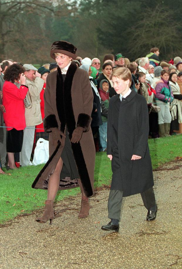 Diana with William in 1994 (Martin Keene/PA)