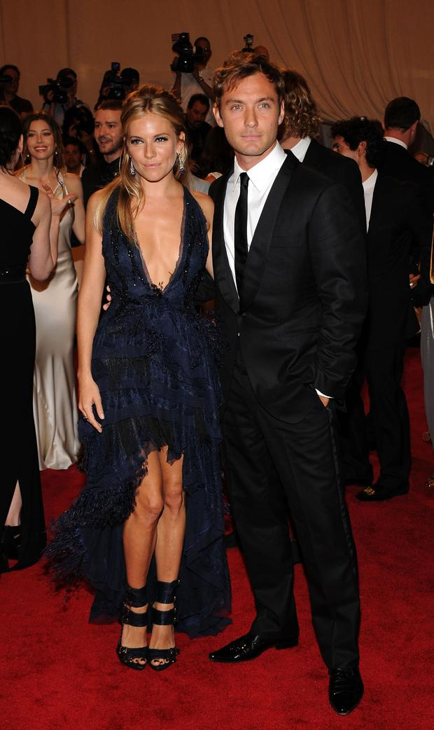 Sienna Miller and Jude Law attend the Costume Institute Gala Benefit to celebrate the opening of the