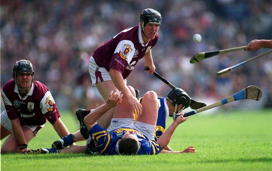 Joe Cooney in action against Tipperary in 2000