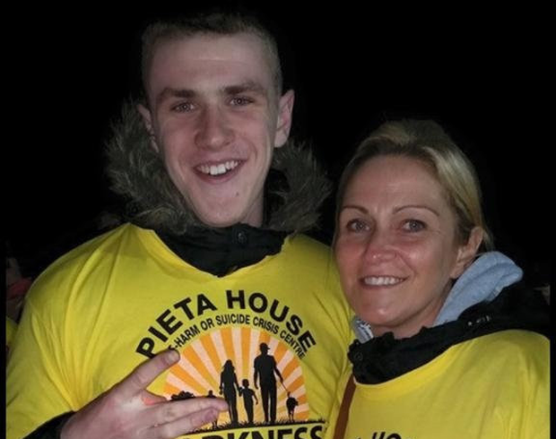 Life saver: Luke O'Reilly with his mother Janet O'Brien, who allowed his organs to be donated after his death