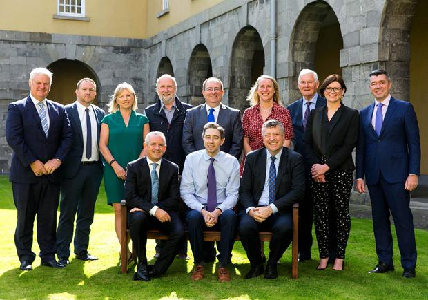Revamp: The newly established board of the HSE that met yesterday for the first time. Photo: Shane O'Neill/SON Photographic