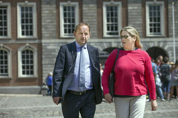 Whistleblower: Garda Maurice McCabe with his wife Lorraine at the Disclosures Tribunal in Dublin Castle. Photo: Tony Gavin
